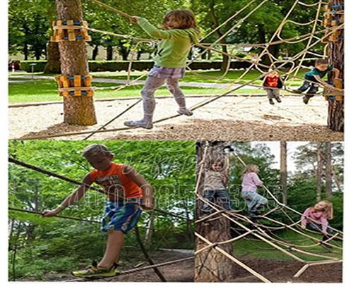大型绳网攀爬儿童户外丛林攀爬体能训练,森林探险团建游乐场设备