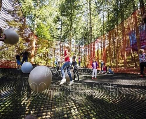 户外大型景区丛林攀爬网拓展体能训练儿童森林探险高空树上蹦床