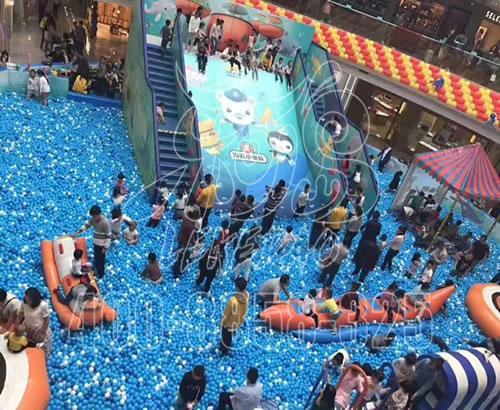厂家定制商场百万海洋球池亲子乐园大型滑梯组合儿童室内拓展定做