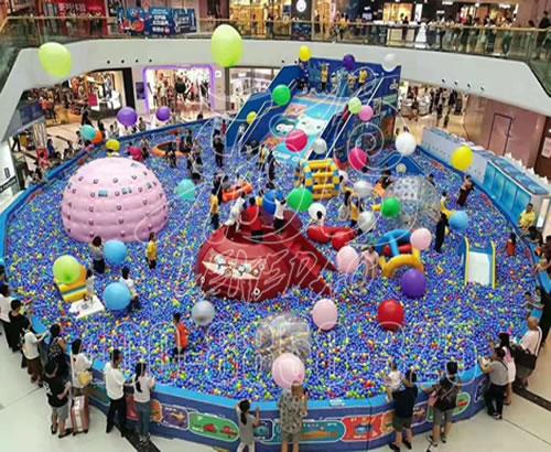厂家定制淘气堡室内儿童游乐园设备拓展设施百万大球池大型游乐场
