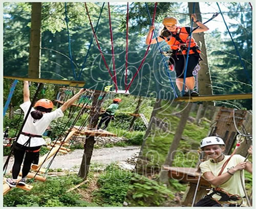厂家供应户外丛林扩展设备新型景观丛林拓展探险游乐园
