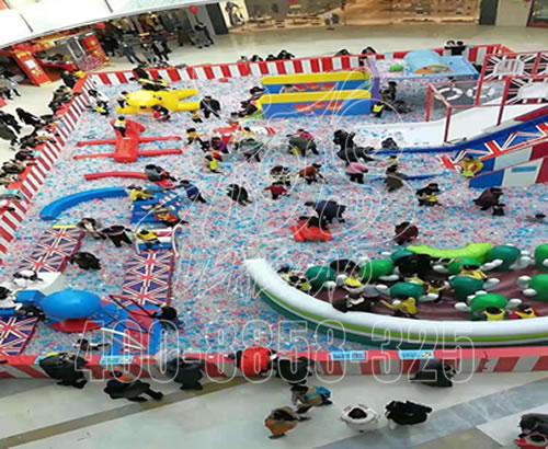 淘气堡儿童乐园室内设备 小型乐园定制 商场百万球池