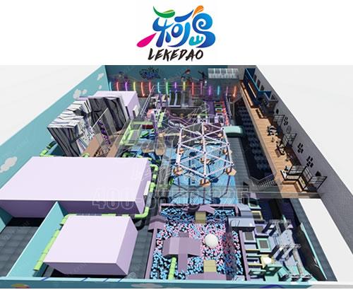 实力厂家定制新型游乐园蹦床设备 蹦床主题公园定制