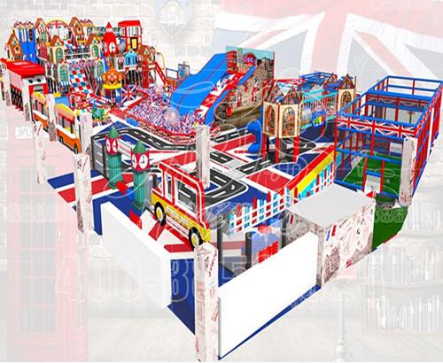 马卡龙淘气堡儿童乐园商场大型室内游乐场设备