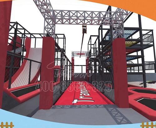 新大型蹦床公园网红成人粘粘乐蹦蹦床儿童乐园室内游乐场设备厂家