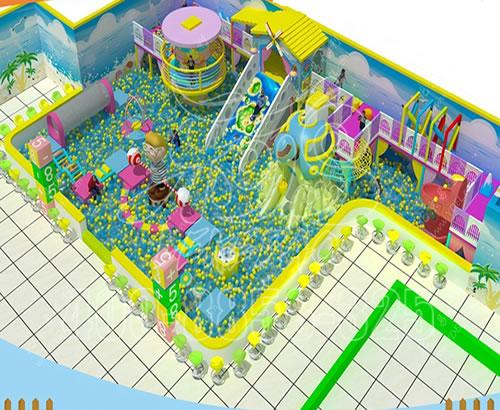 厂家定制新型马卡龙主题糖果淘气堡 儿童乐园 室内亲子游乐场设备