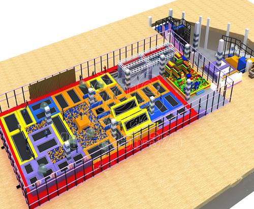 大型蹦床公园厂家定制室内网红蹦蹦床 儿童拓展训练组合游乐设备