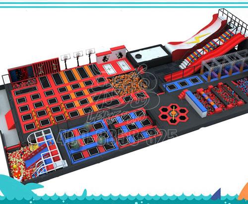 大型儿童蹦蹦床公园室内蹦床游乐场设施带护网跳跳床,蹦床厂家