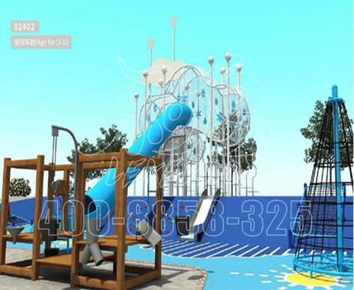 厂家批发大型户外滑梯幼儿园秋千组合玩具儿童游乐园室外游乐设备LKDWDX-12