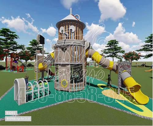 游乐设备厂家大型户外儿童乐园滑梯 游乐室外设备儿童滑滑梯LKDWDX-11
