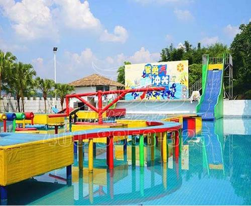 水上闯关设备,冲关水上乐园水上玩具大型支架水池游泳池